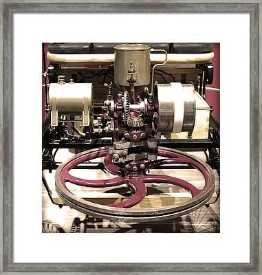 Retro Mercedes Engine Framed Print by Radoslav Nedelchev