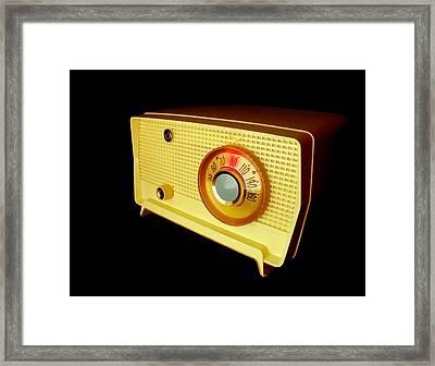 Retro Radio Framed Print by Jim Hughes