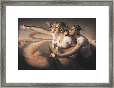 Return Of The Sun Framed Print by Odd Nerdrum