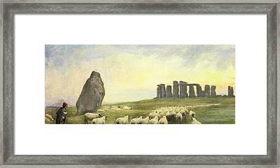 Returning Home     Stonehenge Framed Print by Edgar Barclay