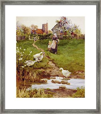 Returning Home Framed Print by Thomas James Lloyd