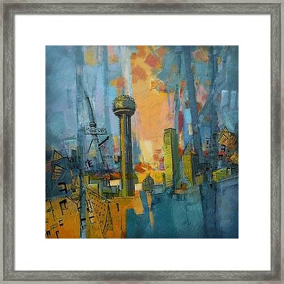 Reunion Tower Framed Print by Corporate Art Task Force