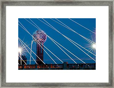 Reunion Tower Framed Print by Darryl Dalton