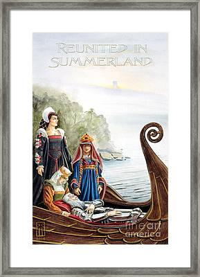 Reunited In Summerland Framed Print by Melissa A Benson