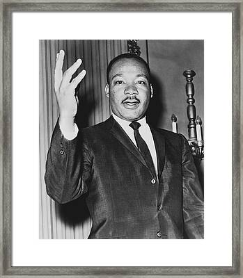 Rev. Martin Luther King Framed Print by Dick DeMarsico
