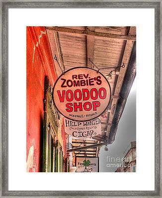 Rev. Zombie's Framed Print by David Bearden