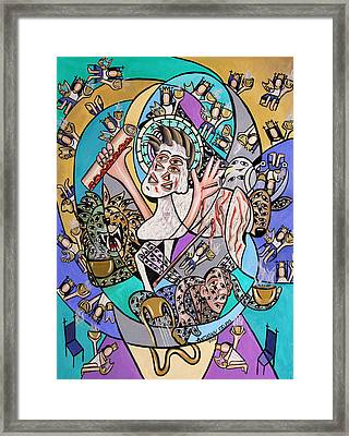 Revelation Chapter 5 6-14 Framed Print by Anthony Falbo
