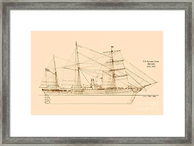 Revenue Cutter Bear Framed Print by Jerry McElroy - Public Domain Image
