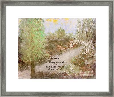 Reverie Framed Print by Alys Caviness-Gober