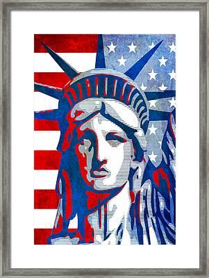 Reversing Liberty 3 Framed Print by Angelina Vick