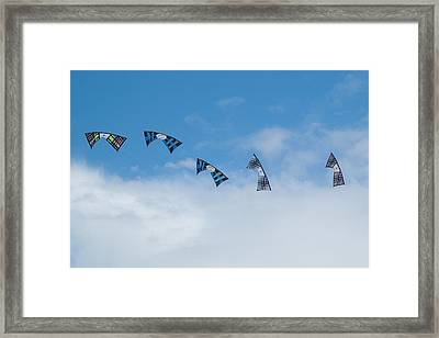 Revolution Kites At The Windscape Kite Festival 2011 Framed Print by Rob Huntley