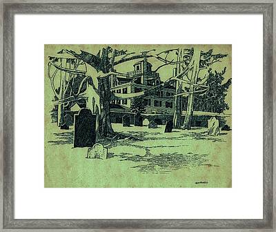 Revolutionary War Cemetery  Framed Print by Dale Michels