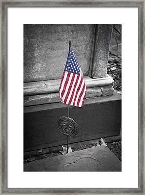 Revolutionary War Veteran Marker Framed Print by Teresa Mucha