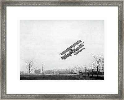 Rex Smith Airplane Flight Framed Print by Library Of Congress