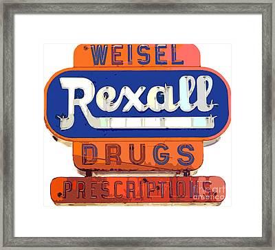 Rexall Drugs Framed Print by David Lloyd Glover