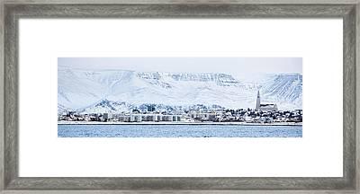 Reykjavik City - Iceland Framed Print by Arnar B Gudjonsson