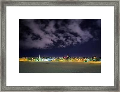 Reykjavik Skyline, Iceland Framed Print by Panoramic Images