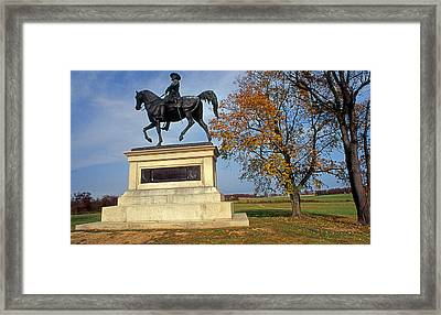 Reynolds At Gettysburg Framed Print by Skip Willits