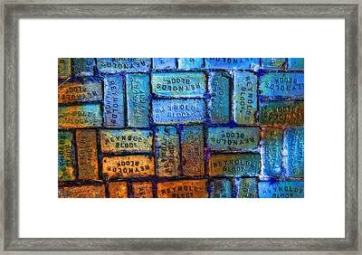 Reynolds Blocks - Vintage Art By Sharon Cummings Framed Print by Sharon Cummings