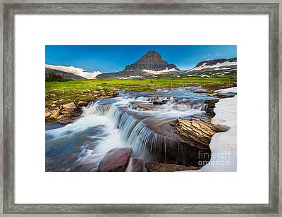 Reynolds Creek Falls Framed Print by Inge Johnsson