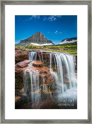 Reynolds Mountain Falls Framed Print by Inge Johnsson