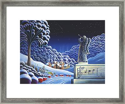 Rhapsody In Blue Framed Print by Andy Russell