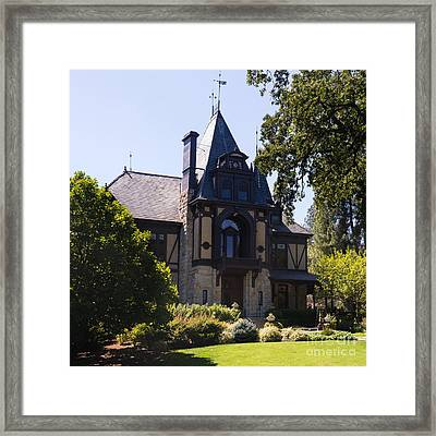 Rhine House At Beringer Winery St Helena Napa California Dsc1719 Square Framed Print by Wingsdomain Art and Photography
