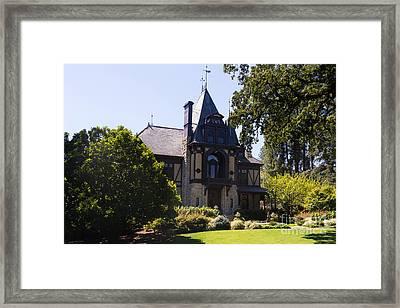 Rhine House At Beringer Winery St Helena Napa California Dsc1719 Framed Print by Wingsdomain Art and Photography