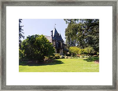 Rhine House At Beringer Winery St Helena Napa California Dsc1722 Framed Print by Wingsdomain Art and Photography