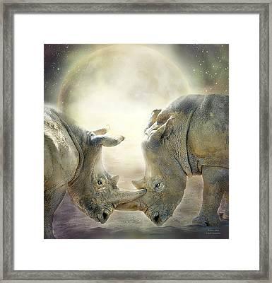 Rhino Love Framed Print by Carol Cavalaris