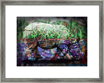 Rhino4 Framed Print by Mark Ashkenazi