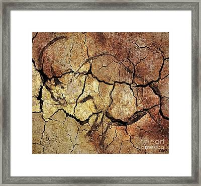 Rhinoceros From Chauve Cave Framed Print by Dragica  Micki Fortuna