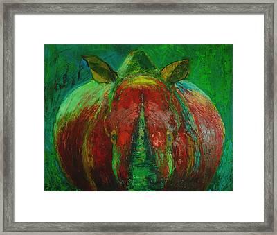 Rhinocerus Framed Print by Magdalena Walulik