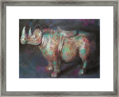 Rhinocerus Framed Print by Paez  Antonio