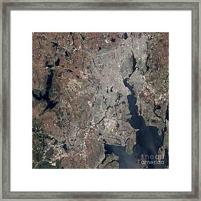 Rhode Island Flood 2010 Framed Print by Science Source