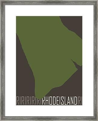 Rhode Island State Modern Framed Print by Flo Karp