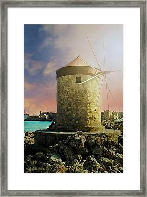 Rhodes Framed Print by Diana Angstadt