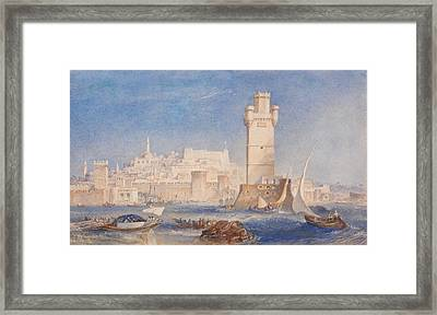 Rhodes Framed Print by Joseph Mallord William Turner