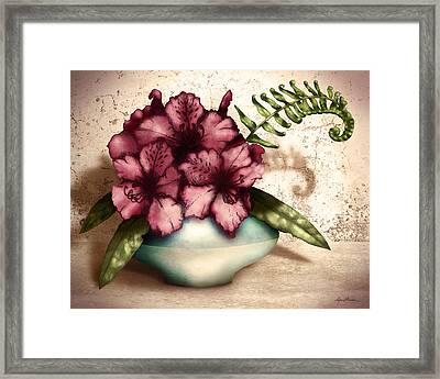 Rhododendron I Framed Print by April Moen