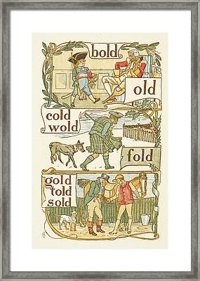 Rhyming Words Ending In The Letter D Framed Print by British Library