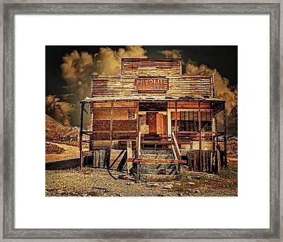 Rhyolite Mercantile Framed Print by Steve Benefiel