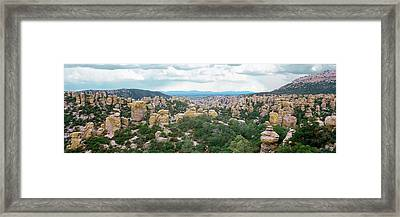 Rhyolite Sculptures Along The Hailstone Framed Print by Panoramic Images