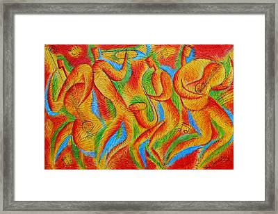 Rhythm And Blues Framed Print by Leon Zernitsky