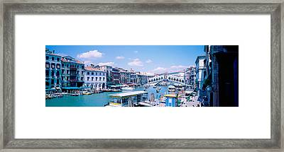 Rialto And Grand Canal Venice Italy Framed Print by Panoramic Images