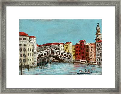 Rialto Bridge Framed Print by Anastasiya Malakhova