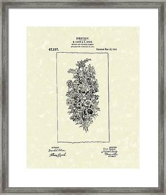 Ribbon 1915 Patent Art Framed Print by Prior Art Design