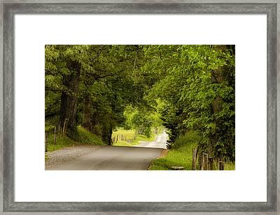 Ribbon Road Framed Print by Andrew Soundarajan