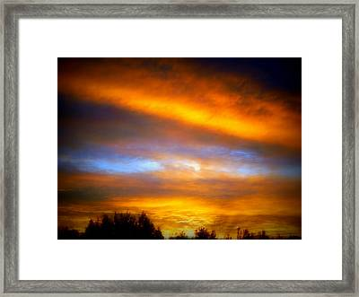 Ribbons Of Darkness Framed Print by Karen Cook