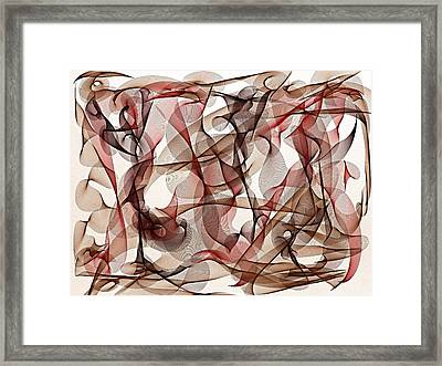 Ribbons Of Life Framed Print by Marian Palucci-Lonzetta