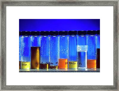 Rice Bran Oil Research Framed Print by Keith Weller/us Department Of Agriculture